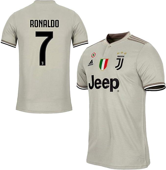 JUVE Maglia Ronaldo Juventus Gara Away (Trasferta) 2018/19 Originale T-Shirt Uomo Patch Scudetto e Coppa Italia Sempre Incluse