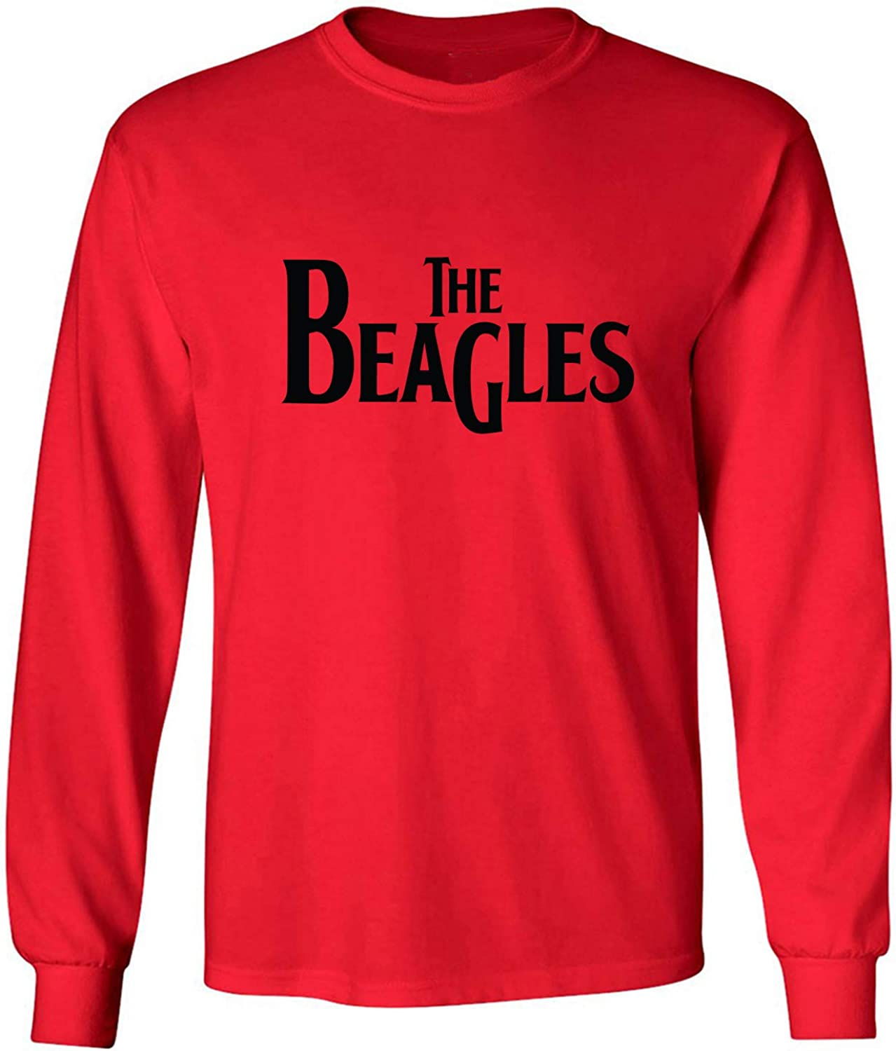 The Beagles Adult Long Sleeve T-Shirt in Red - XXXX-Large