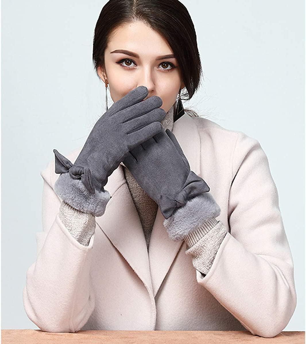 Womens Winter Warm Gloves Touchscreen Fashion Windproof Gloves for Girls