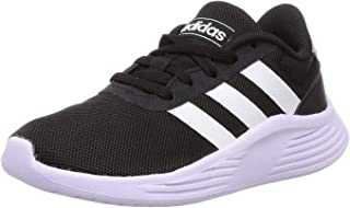 adidas Lite Racer 2.0 K, Unisex Kids' Road Running Shoes, Black (Core Black/Ftwr White/Purple Tint), 29 EU
