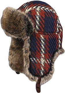 51279338a68 Liveinu Unisex Windproof Fur Aviator Hat Trapper Hats Winter Warm Earflap  Fitted Ushanka Ski Bomber