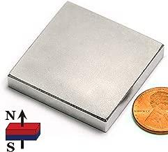 Grade N52 Rectangle Neodymium Magnet 1.5 x 1.5 x 0.25