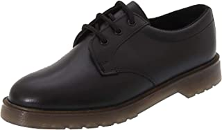 Black leather lace-up shoe M162A
