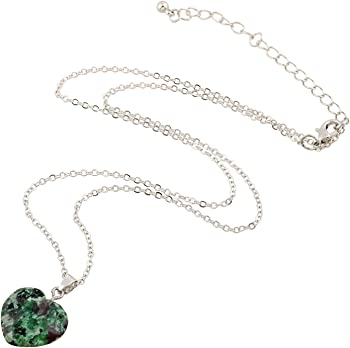 D Exceed Gift Idea Natural Gemstone Heart Charm Pendant Necklaces