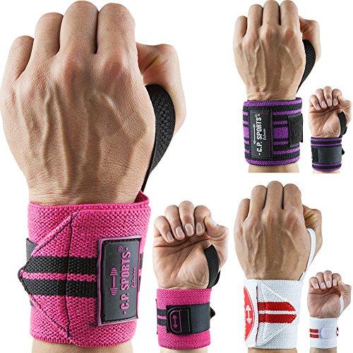 C.P. Sports 38737 Bandage de Poignet Blanc/Rouge Taille Unique 30 cm