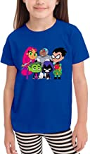 Jinfugongmao Teen Titans Go 3D Pattern Printed for Boy Girl Infant Kids Short Sleeve T-Shirts