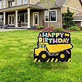 Construction Theme Happy Birthday Yard Sign - Dump Truck Birthday Yard Sign Boy Birthday Decorations