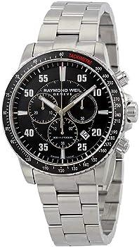 Raymond Weil Tango Chronograph Black Dial Men's Watch