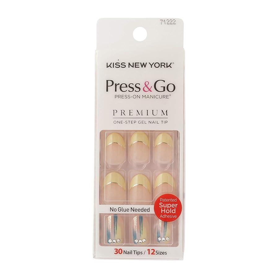 松ソース増強するキスニューヨーク (KISS NEW YORK) KISS NEWYORK ネイルチップPress&Go BHJ32J 19g