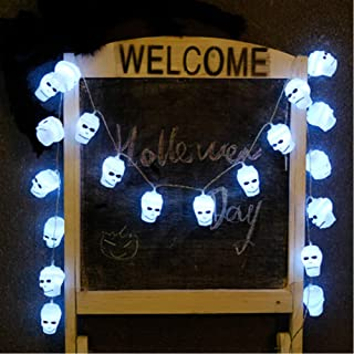 PICOOO Halloween String Lights 10 LED a Pack, Indoor/Outdoor String Lights for Halloween Decorations 5 Styles to Choose (10 Skull led Lights)