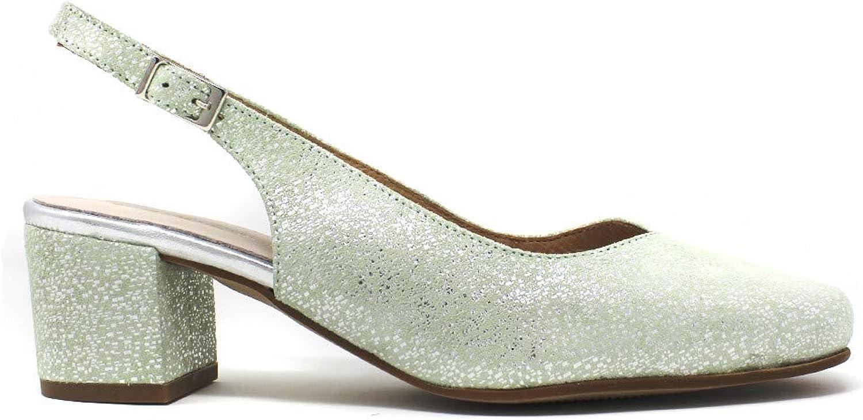 Pomares - Zapato salón salón Weiß Brillante para damen - Grün, 41  Es gibt mehr Marken von qualitativ hochwertigen Waren