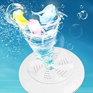 Hushålls liten tvättmaskin Ultraljud Turbo Washer Mini tvättmaskin resekontor för hemmet(white)