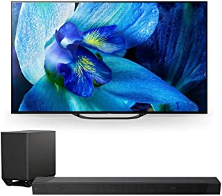 """Sony XBR-65A8G 65"""" BRAVIA OLED 4K HDR TV with HT-ST5000 7.1.2ch 800W Dolby Atmos Sound Bar"""