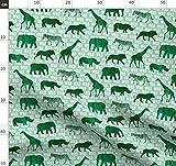 grün, wild, modisch, Giraffe, Kinderzimmer, Elefant,