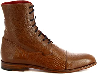 LEONARDO SHOES Luxury Fashion Mens 310VBROWN Brown Ankle Boots | Season Permanent