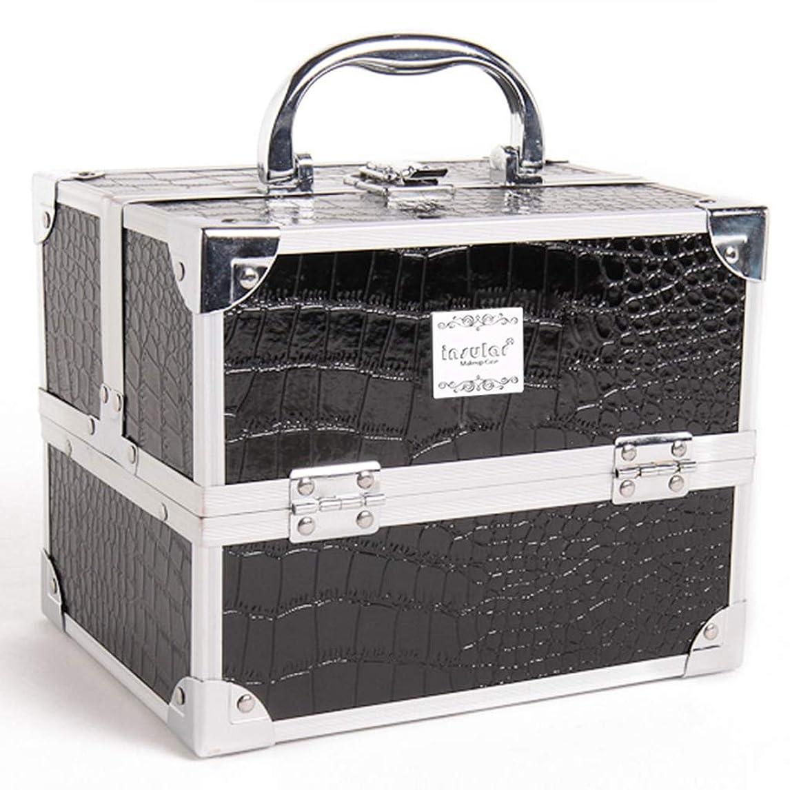 忍耐嵐が丘なぜ[テンカ]メイクボックス コスメボックス 化粧箱 スライドトレイ 収納ボックス 収納ケース 観音開き 化粧品?化粧道具入れ 自宅?出張?旅行?アウトドア撮影 プロ用 大容量 取っ手付 多機能 工具箱 ツールボックス