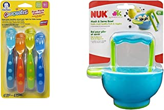 Gerber Graduates Fun Pack Utensils, 8-Piece Set with NUK Mash and Serve Bowl for Making Homemade Baby Food