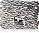 Herschel Men's Charlie RFID Wallet, Light Grey Crosshatch, One Size