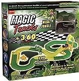 Magic Traks Jungle - Circuito Luminoso de 3,60 Metros modulable y Brillante en la Oscuridad, Vista en la televisión.