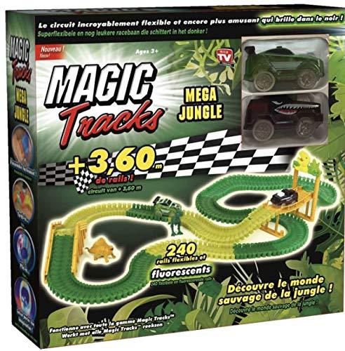MAGIC TRACKS JUNGLE - Le circuit lumineux de 3,60 mètres modulable et brillant dans le noir - Vu à la Télé