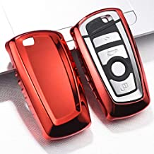 QBUC for BMW Key Fob Cover Protective Case, Soft TPU Anti-dust Protection Key Case Shell Keyless Remote Control Smart Car Key Protector for BMW 1/2/3/4/5/6/7 Series and X3 X4 M2 M3 M4 M5 M6(Red)