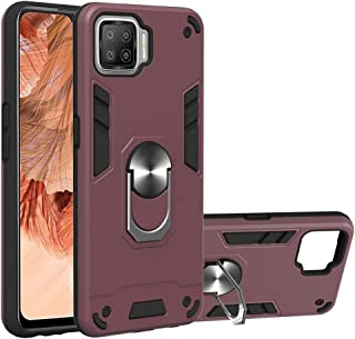 Hanlwza Cover Case for Oppo F17 A73 2020, Metal Ring Phone Case with Kickstand 360 Degree Rotating [Vertical & Horizontal ...