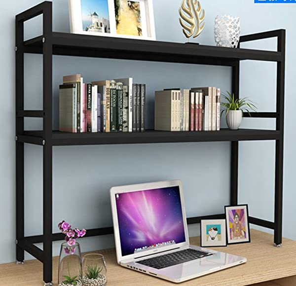 WJXBoos Desktop Bookshelf Simple Rack Computer Desk Rack Student Dormitory Multi Function L 75x24x60cm 30x9x24