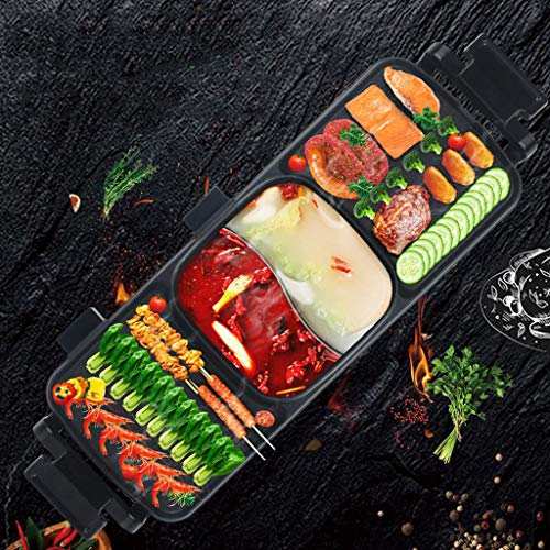 QAQQQ Bandeja De Horno Eléctrico Desmontable Grill Inicio Eléctrico Multifuncional Barbacoa Hot...