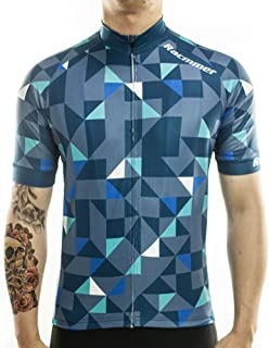 Racmmer Men's Short Sleeve Cycling Jersey Bike Biking Shirt Breathable Quick Dry