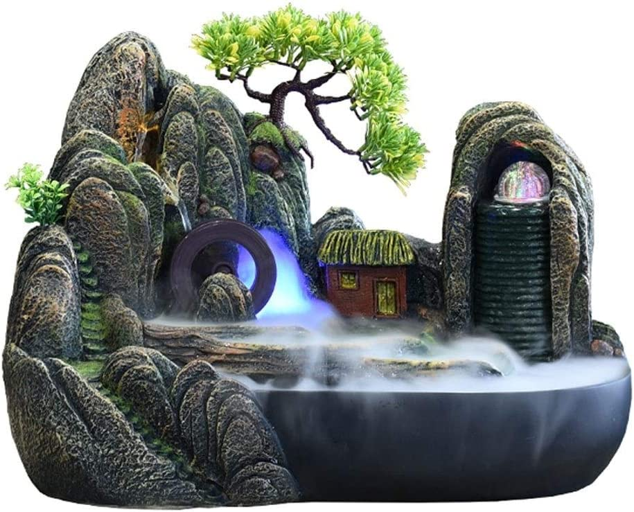 Bombing free shipping Relaxation Desktop Fountains Rockery Interior Waterfall All items free shipping Fountain