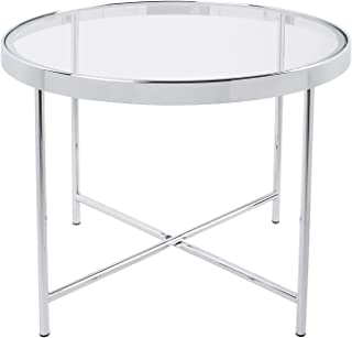 Leitmotiv Smooth Table, Verre, Transparent, Taille uniq