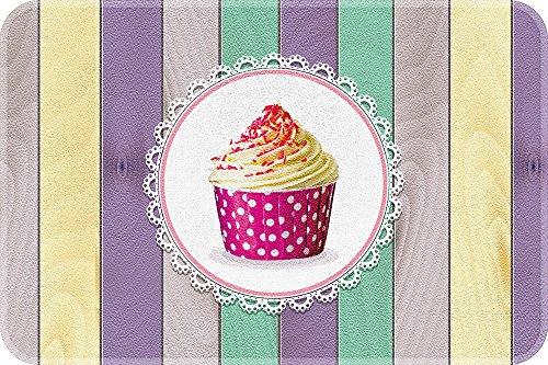 ID MAT 4060 Cup Cakes - Tappeto da Cucina, Fibra Poliammide/PVC, Multicolore, 60 x 40 x 0,4 cm