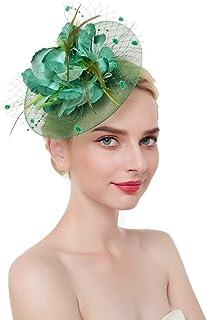 dressfan Elegant Circular Mesh Net Flower Pluma Fascinator