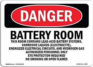 battery room safety signage