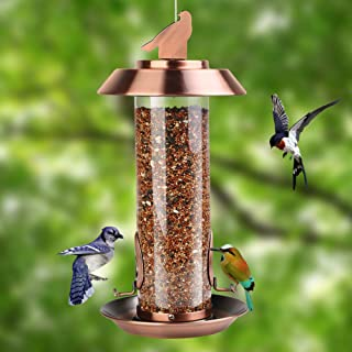 Noxew Panorama Bird Feeder, Wild Bird Feeder Hanging for Garden Yard Outside Decoration