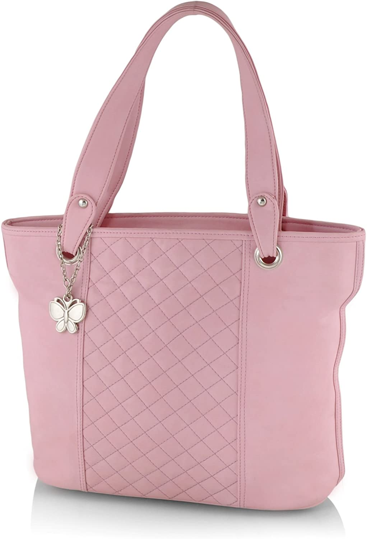Butterflies Women's Handbag (Baby Pink) (BNS 0593BPK)