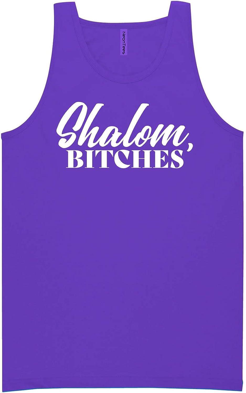 zerogravitee Shalom Bitches Neon Purple Tank Top - XX-Large