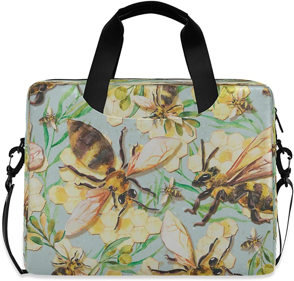 JMbuild Laptop Case 15.6 inch Flower Leaves Bee shopping Pattern Max 83% OFF Computer