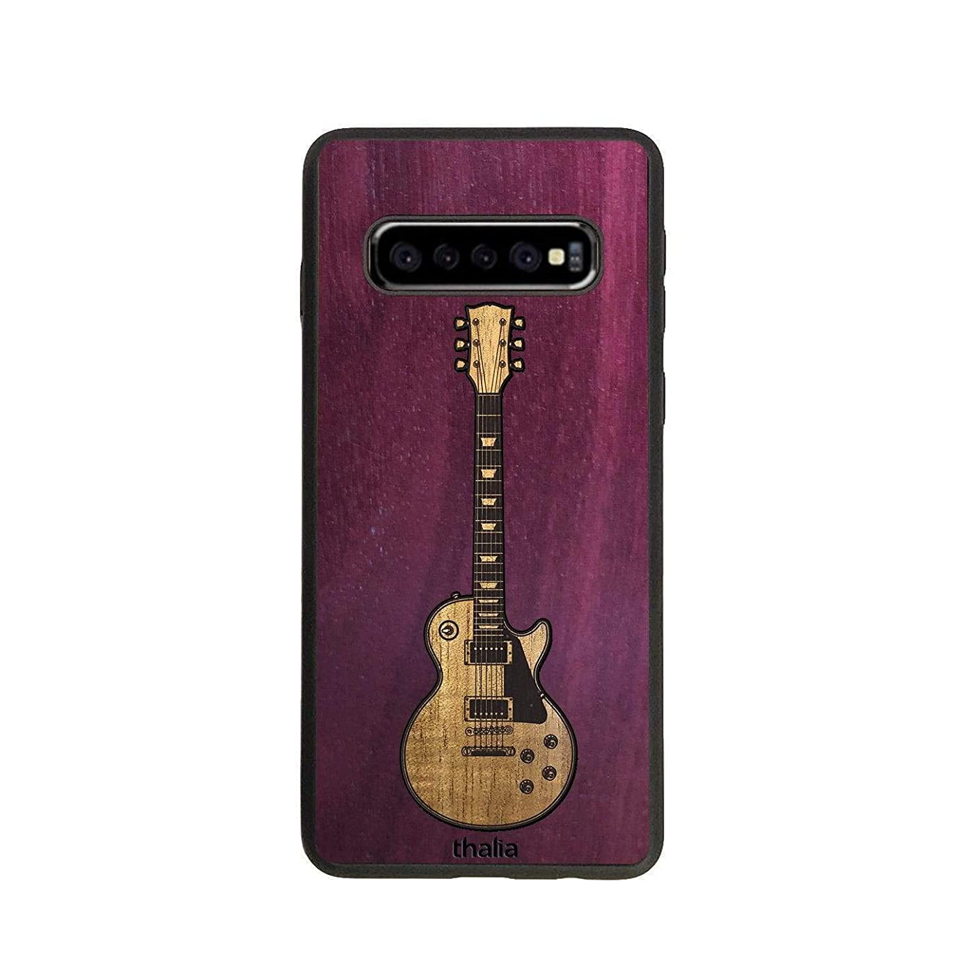 Purpleheart & Les Paul Hawaiian Koa Inlaid Guitar Phone Case | Thalia Exotic Wood Cases Samsung Galaxy S10