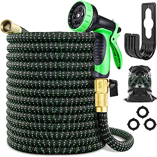 Expandable Garden Hose 50FT Water Hose with 3/4' Solid Brass Fittings...