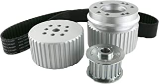 A-Team Performance Gilmer Style Pulley Kit V-Belt Compatible with Ford BB Big Block BBF 429-460 Silver