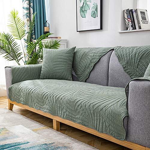 Homeen Cocina Funda Protectora para Sofá,Funda Protectora de sofá de algodón de Esquina, Fundas de cojín de sofá Acolchadas, Disponible para Todas Las Estaciones, Toalla de sofá antid