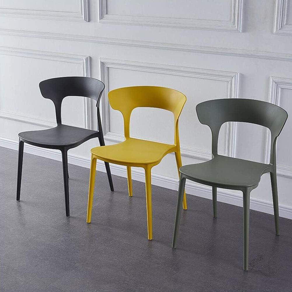 DALL Chaises De Salle À Manger Lot De 2 Dossier Chaises De Table Empilable Chaise De Maquillage Siège en PP Style Moderne Chaise De Réception De Restaurant (Color : Yellow) Green