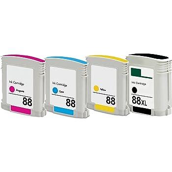 INKTONER 5 pk 88XL Combo ink Cartridge set for HP OfficeJet Pro L7580 L7590 L7650 L7680