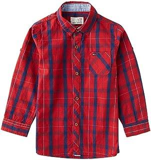 6d6d42e994a Long Sleeve Plaid Check Button Down Shirt for Boys Toddler Cotton Casual  Dress Shirt Size 2