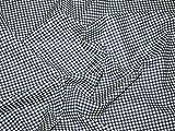 114,3cm breit Gingham Baumwolle Kleid Stoff Denim