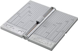 リヒトラブ 裁断機 コンパクト スライドカッター A4ヨコ対応 直線刃5枚裁断 ミシン刃3枚裁断 M40