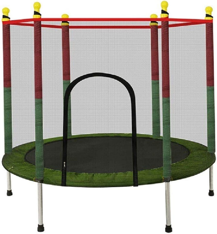 4.5FT 55 Inch Trampolin mit Safety Net Enclosure & Foam Pad, Indoor und Garden Jumper Toy für Junior
