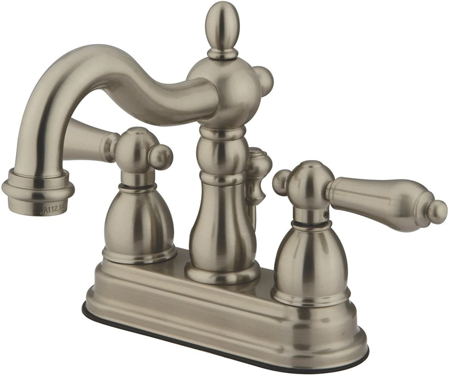 Kingston Brass KB1603AL Heritage 4-Inch Centerset Lavatory Faucet with Metal Lever Handle, Vintage Brass by Kingston Brass