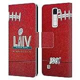 Head Case Designs Oficial NFL Fútbol 2020 Super Bowl Liv Carcasa de Cuero Tipo Libro Compatible con LG K8 / Phoenix 2